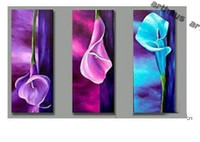 Wholesale Oil Painting decoration Handmade High Quality Modern Abstract on Canvas art lily calla flower FLL005