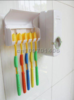 Wholesale Crowded toothpaste Automatic Toothpaste Dispenser amp Brush Holder SET toothbrush Family Sets
