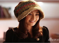Wholesale Star models with bucket hats Ms wool cap knitted hat winter hat