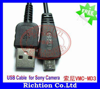 Wholesale VMC MD3 original USB Digital Camera Cable for Sony Camera DSC W350 W360 W370