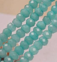 Wholesale 6X8mm Brazilian Aquamarine Gems Abacus Loose Bead quot