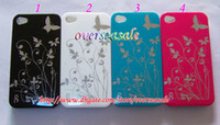 Yes plastic flower - Hard Plastic Oil shiny skin back Case Cover butterfly flower For iphone G th S GS