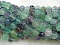Wholesale 8mm Multicolor Fluorite Round Gemstone Loose Beads