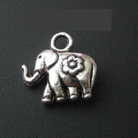 Wholesale 500pcs mini Elephant Dollhouse miniature toy jewelry Charm x mm