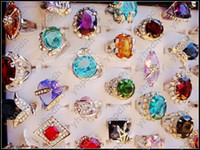 Wholesale Women s Colorful Cubic Zirconia Ring Sparkling Rhinestone Rings Fashion Costume Jewelry Jewellry CZ3