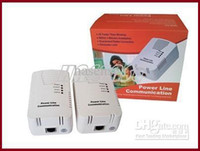Wholesale 200M Power Line Communication home plug Powerline Ethernet AdapterPLC Network Adapter M