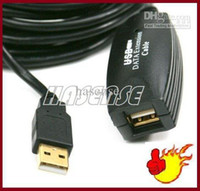 Wholesale black M copper Conductor USB Active Extension Repeater Cable Male to Female