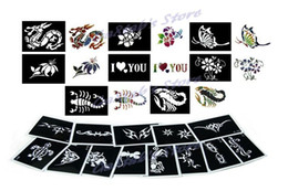Wholesale 200 sheets Tattoo Stencils for Body art Temporary Glitter Tattoo Kit Mixed designs