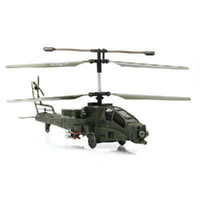 Wholesale Nice Syma S009G Apache Military CH GYRO Coaxial AH64 RC Helicopter Electric LED Built in Gyro