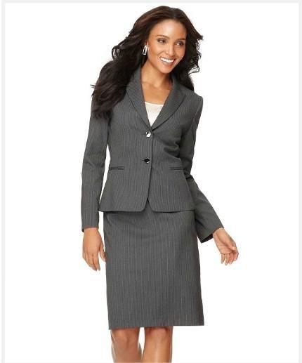 2017 Suits Women Clothing Clothing Stores Grey Welt Pockets Jacket ...