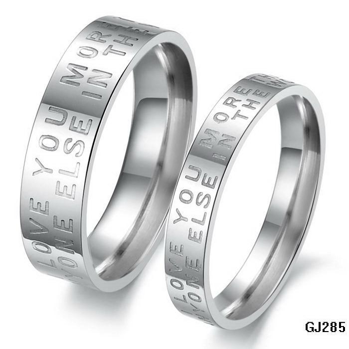 Engagement Rings Stainless Steel Inscribe Word Finger Rings For ...