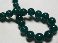 beryl beads - 8mm Green Beryl Gemstone Round Loose Bead