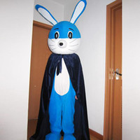Wholesale customized Cartoon Character Costume mascot Products blue pink two Rabbit Advertising s m l xl xxl