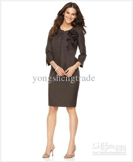 Brown Ladies Suit | My Dress Tip