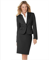 Women Skirt Suit Formal Brand Women Suit Black Women Suit One-Button Blazer & Classic Pencil Skirt Tailor Suit