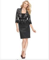Women Dress Suit Casual Women Suit Designer Suit Three Quarter Sleeve Lace Jacket & Pencil Skirt Collarless Tailor Suit