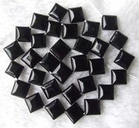 Wholesale 15inchs mm Diagonally Square Shape Black Onyx Beads