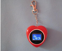 Wholesale inch Heart appearance keychain digital photo frame many colors available
