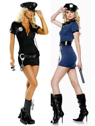 Wholesale Sexy Lingerie Fancy Dress Police Women Costume Black AM7342 One Size