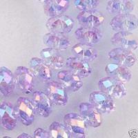 Wholesale 70pc purple AB Swarovski Crystal Loose Bead x8mm