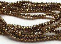 ab swarovski crystals - 200pc Gold AB Swarovski Crystal Loose Bead x3mm AAA