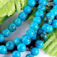 Wholesale 8mm Blue Turkey Turquoise Gemstone Round Loose Bead