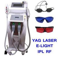 Wholesale 3 YAG LASER E LIGHT IPL RF SKIN HAIR REMOVAL