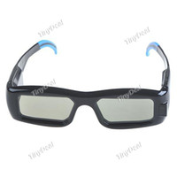 Wholesale 3 Dimensional D Active Shutter Glasses with USB Cable for Samsung DTV High Definition D Images