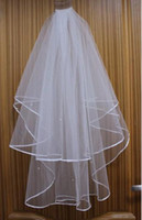 Wholesale Stock Ivory Or White layers Comb Wedding Bridal Veil