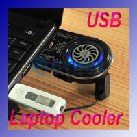 Wholesale Mini Vacuum Case Cooler USB Cooling Fan for Laptop Notebook idea FYD Blue LED light