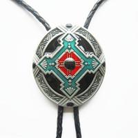 Wholesale Retail Bolo Tie Original Design Keltic Celtic Cross Knot Oval Wedding Necklace Bolo Tie