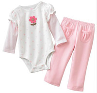 Wholesale baby sets rompers onesies outfits bodysuits girls suits pants trousers tracksuits garment LM450