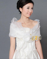 Wholesale_Stock Ivory Or White Organza Bride Shawl Shrug Bol...