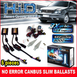 5PCS 35W ULTRA SLIM CAN-BUS BALLASTS HID XENON CONVERSION KITS NO ERROR H1 H3 H4 H7 H11 ALL COLORS