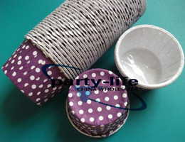 Hot selling!! New Purple Round MUFFIN Paper Cake Cup Cake case with White Dot,1500pcs lot