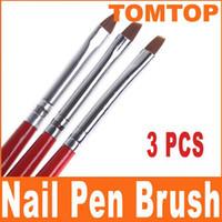 Wholesale 3pcs Black Red Nail Art Design Pen Painting Dotting Tool Set H4570
