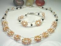 Wholesale Wedding Party Accessories Fancy neclace Set NATURAL PEARL Pearl Elegant Grace Luxurious unique