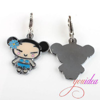 Wholesale 16x HOT PUCCA Charm Pendants Beads With Lobster Clasp Fit Christmas jewellery making