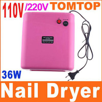 Wholesale 36W V V Nail Art UV Lamp Gel Curing Tube Light Pink Dryer with Lamp Tubes H4087 set