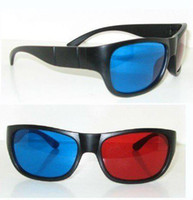 Wholesale New Red Blue Cyan D Plastic Glasses for D Movie Factory