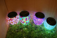 Wholesale LED Solar Lawn Lights Garden Light Garden Lights Moon Colorful Jar Birthday Gifts