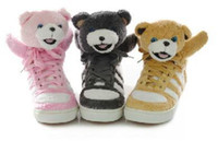 Wholesale 2011 Teddy Bear star shoes casual lace with high top shoes platform shoes Panda