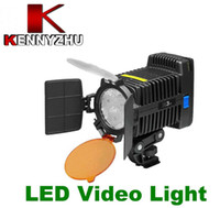 Wholesale LED Video Light Lamp DV Camcorder DSLR Camera Lighting F amp V R3 II With Barn Doors And Yellow Filter