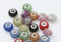 Wholesale Swarovski silver Crystal DIY charm Bead fit clasp bracelet