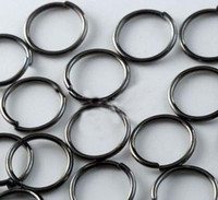 Wholesale bag mm Black Color metal Open Jump Rings Jewelry Findings