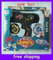 Wholesale Christmas Promotion hot new Beyblade Top Set Metal Fusion Sol Blaze Double Launcher