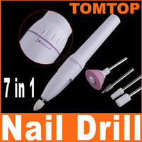 Wholesale Mini Cordless Nail art drill tools Nail Art Tips ELECTRIC MANICURE Toenail DRILL FILE TOOL H4373