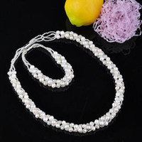 Wholesale Wedding Accessories Jewelry Set NATURAL PEARL Freshwater Pearl Elegant Grace Luxurious unique