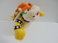 Wholesale 1pcs Cute super Mario Bros plush toy quot Cute BOWSER Plush TOY Doll stuffed plush Toy FigureToy