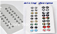 Wholesale Multi designs logo stud earring ear stud hoop earring mixing18 styles body jewelry